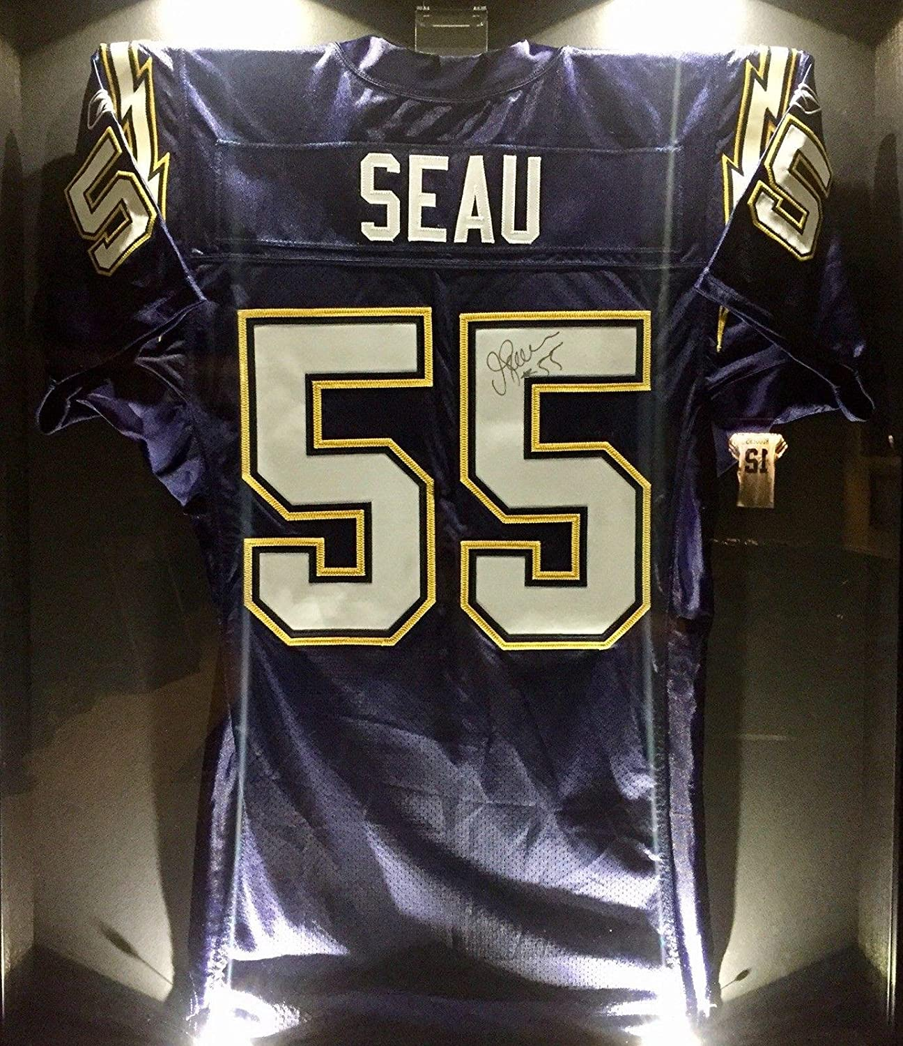 Junior Jr. Seau Team Issued Signed Chargers Pro NFL Game Jersey ...
