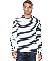 Stripe Raglan Crew Neck Shirt
