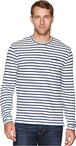 Stripe Raglan Crew Neck Shirt
