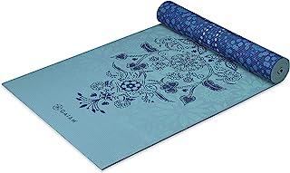 Gaiam Esterilla de yoga con impresión premium, reversible, extra gruesa, antideslizante, para todos los tipos de yoga, pil...