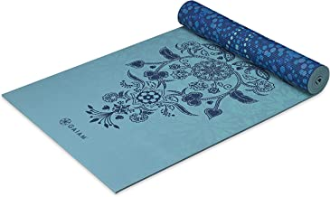 "Gaiam Yoga Mat - Premium 6mm Print Reversible Extra Thick Non Slip Exercise & Fitness Mat for All Types of Yoga, Pilates & Floor Workouts (68"" x 24"" x 6mm Thick)"
