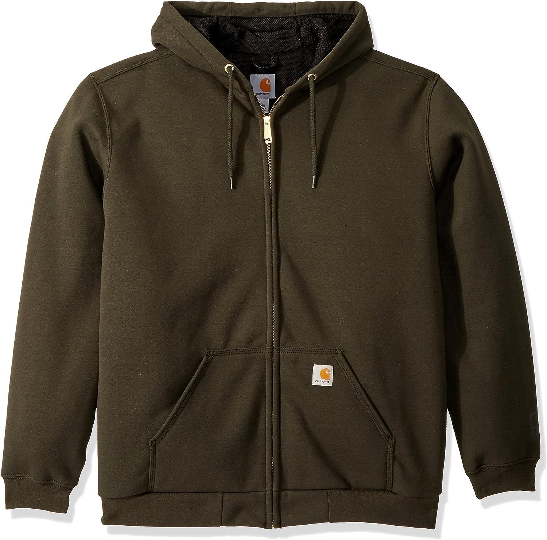 Carhartt Men's Big & Tall Rain Defender Rutland Lined Hooded Zip Sweatshirt