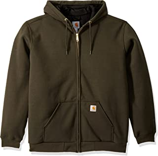 Carhartt Men's Big & Tall Rain Defender Rutland Lined Hooded Zip Sweatshirt