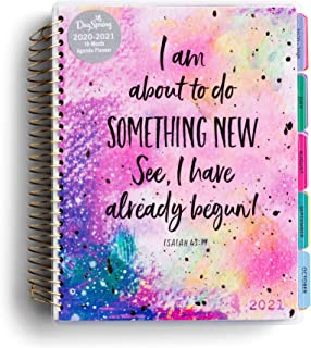 DaySpring Something New - 2020-2021 Planner - Academic Weekly & Monthly Agenda Planner with Tabs, Interior Pocket and Note...