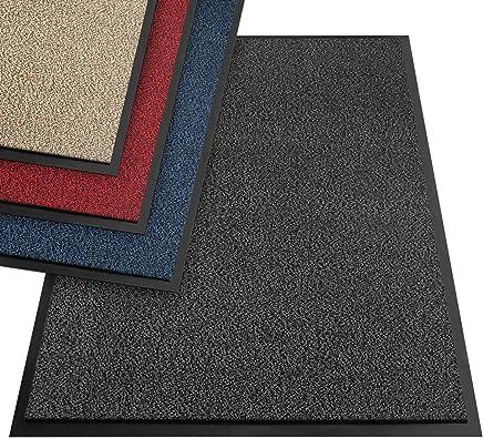 etm® Schmutzfangmatte - Note 1,6: Sieger Preis-Leistung - Fußmatte in vielen Größen - Türmatte Fußabstreifer für Haustür innen und außen (Anthrazit-Schwarz, 90x120 cm)