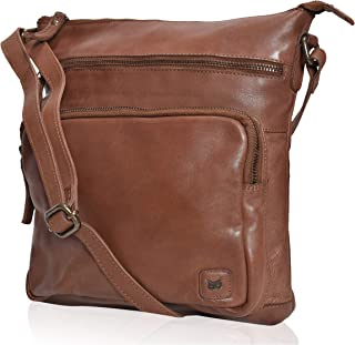 brown leather owl purse