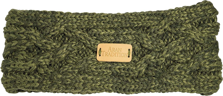 Aran Traditions Aran Cable Knit Headband (Dark Green)
