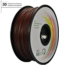 3D BEST-Q Wood PLA 1.75mm 3D Printer Filament, Dimensional Accuracy +/- 0.03 mm, 1KG Spool, 30% Padauk-infill