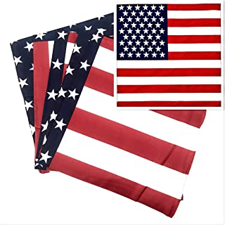 50 Bulk American Flag Bandanas …