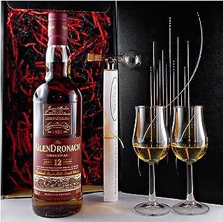 Geschenk Glendronach 12 Jahre Single Malt Whisky  Glaskugelportionierer  2 Bugatti Gläser
