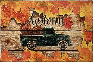 Hello Fall Door Mat Machine Washable Indoor Or Outdoor Doormat for Living Room Bedroom Dining Kitchen Or Entryway Mat Non ...