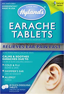 Sponsored Ad - Swimmers Ear Relief Tablets by Hyland's, Fast Natural Homeopathic Pain Relief of Cold & Flu Earaches, Swimm...
