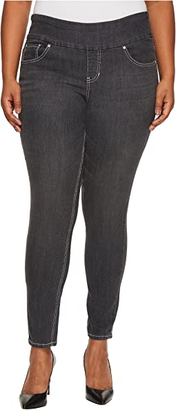 Plus Size Nora Pull-On Jackie Skinny Comfort Denim in Thunder Grey