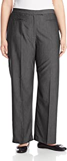 Ruby Rd. Women's Plus-Size Flat Front Easy Stretch Pant, Graphite Heather, 20W