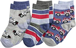 Jefferies Socks - Rescue Vehicles 3 Pack (Infant/Toddler/Little Kid)