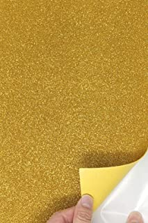 gold glitter self adhesive paper