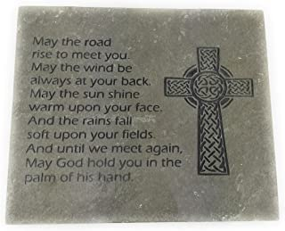 GraphicRocks Sandblast Engraved Decorative Stepping Stone Inspirational Irish Blessing
