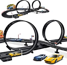 MAOXIAN Kids Toy-Electric Powered Slot Car Race Track Set Boys Toys for 3 4 5 6 7 8-16..