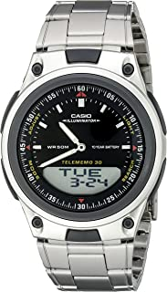 Men's AW80D-1AVCB 10-Year Battery Ana-Digi Bracelet Watch