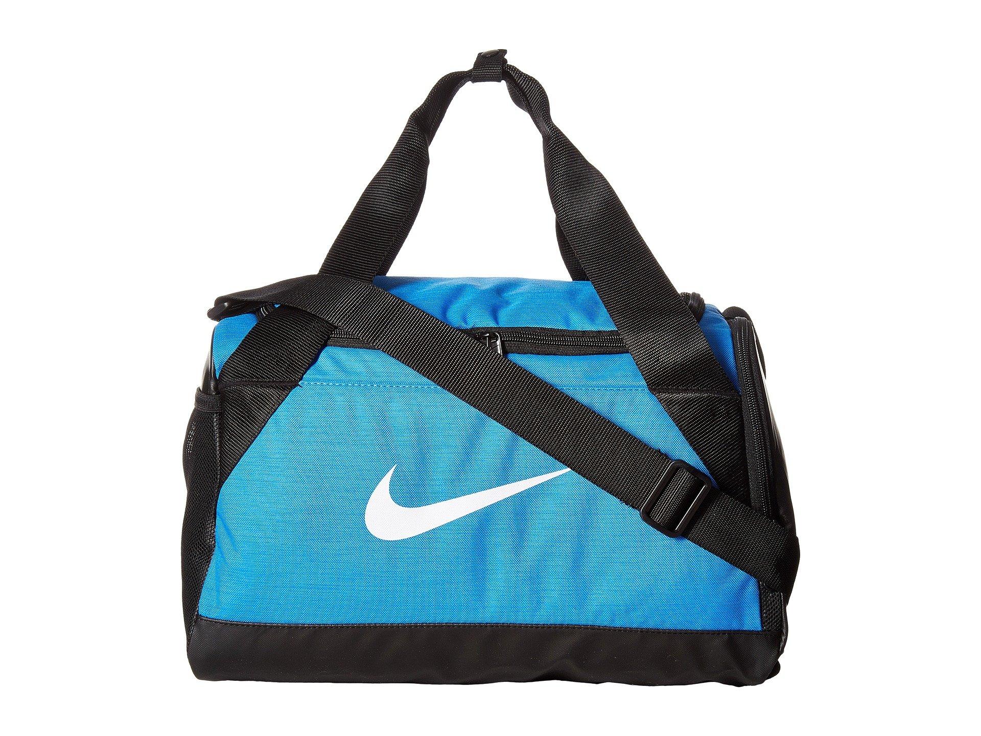 Nike Brasilia Duffel Extra Small In Light Photo Blue Black White ... 4351883a81fff