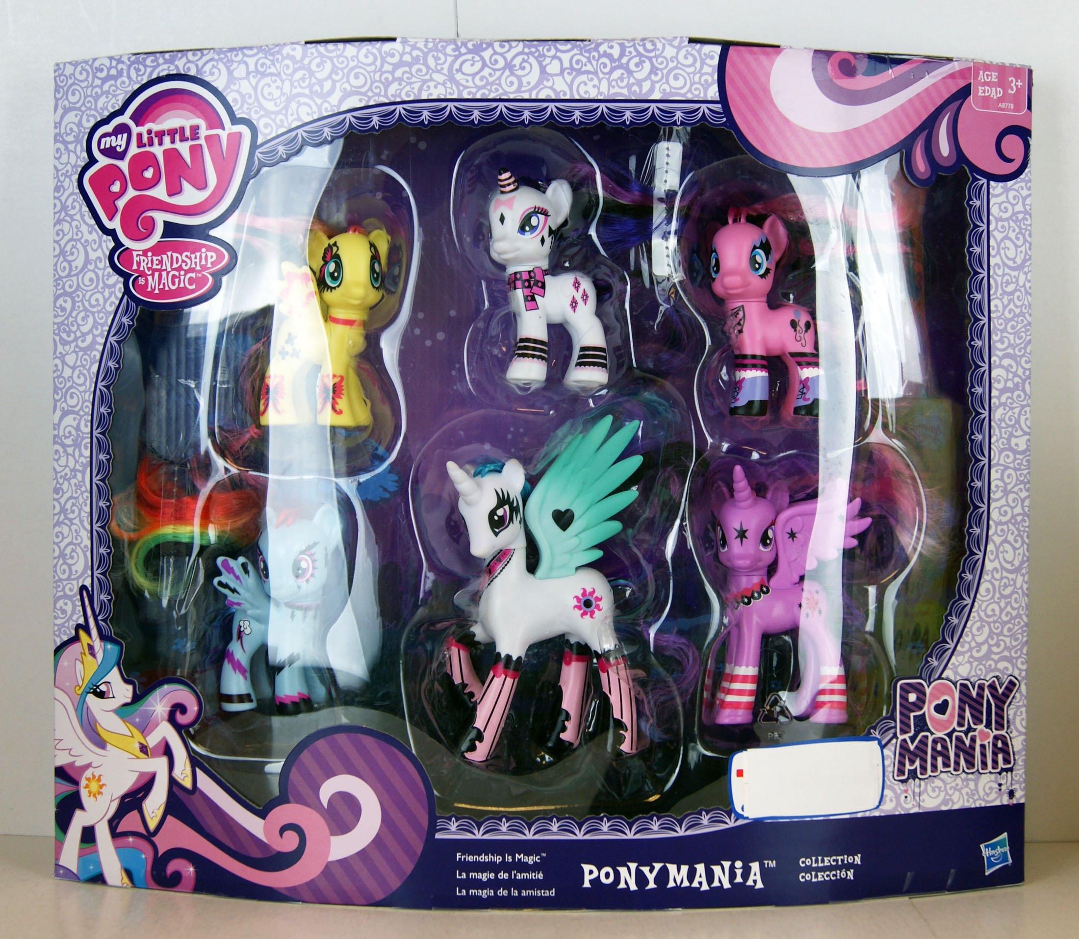 Amazon.es: My Little Pony Friendship Is Magic Pony Mania 6 Pack by Hasbro: Juguetes y juegos