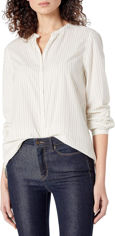 Amazon Brand - Goodthreads Women's Relaxed Fit Lightweight Cotton Button Down Long Sleeve Shirt