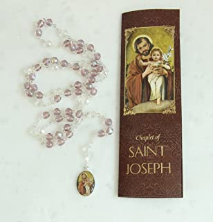 Saint Joseph Chaplet Rosary Patron St. of fathers, the family, happy death, workers, travlers