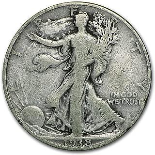 1938 D Walking Liberty Half Dollar Good Half Dollar Good
