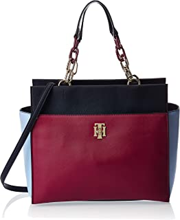 Tommy Hilfiger Satchel  for Women-Beet Red Mix