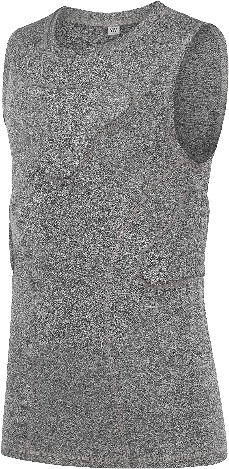 TUOYR Youth Padded Compression Shirt Safety and trust Chest Protector Max 44% OFF Rib Fo Vest
