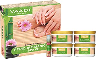 VAADI HERBALS Pedicure Manicure Spa Kit Soothing & Refreshing, Hands, Feet, Toes And Nails Kit, 22.6 Oz(640 Gms)