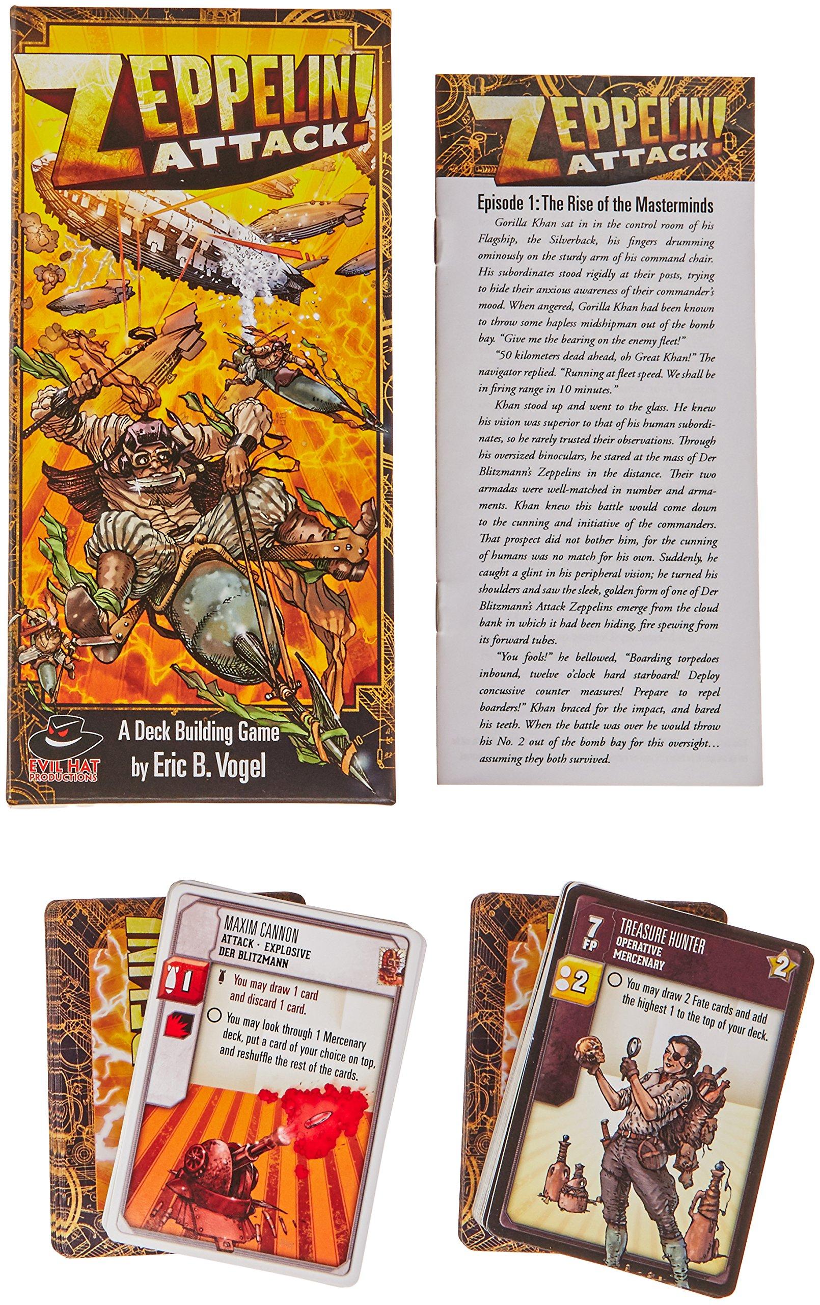 Evil Tiene Productions ehp02012 – Juego de Cartas Spirit of The Century: Zeppelin Attack.: Amazon.es: Juguetes y juegos