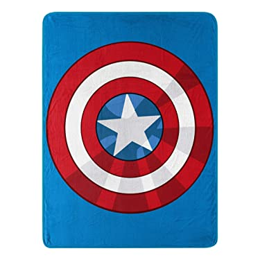 "Marvel's Avengers, ""The Shield"" Micro Raschel Throw Blanket, 46"" x 60"", Multi Color"