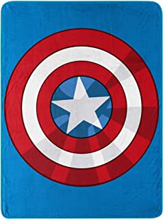"Marvel's Avengers, ""The Shield"" Micro Raschel Throw Blanket, 46"" x 60"", Multi Color"