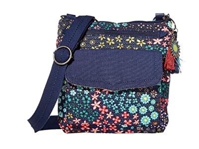 Sakroots City Swing Pack (Navy Floral Spirit) Cross Body Handbags
