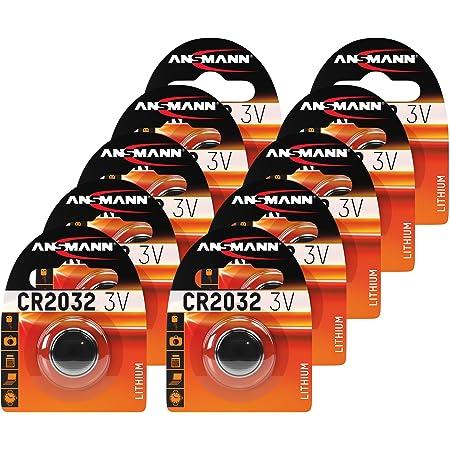 Ansmann 10x Cr2032 Batterie Lithium Knopfzelle 3v Elektronik