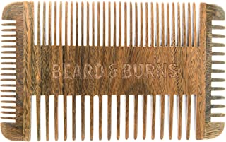 Four Sided Wooden Beard Comb by Beard and Burns - Made from All Natural and Scented