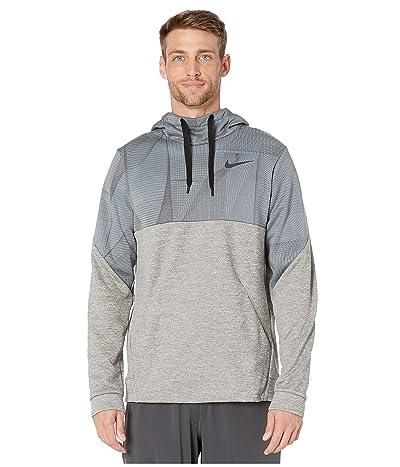 Nike Therma Fleece Pullover All Over Print 1 (Dark Grey Heather/Black) Men