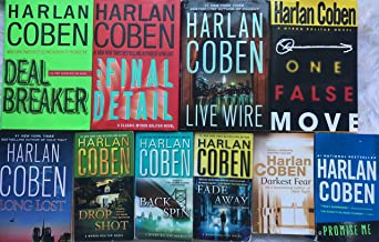 Harlan Coben's Complete Myron Bolitar Series Set (Books 1-10): Deal Breaker, Drop Shot, Fade Away, Back Spin, One False Move, the Final Detail, Darkest Fear, Promise Me, Long Lost and Live Wire