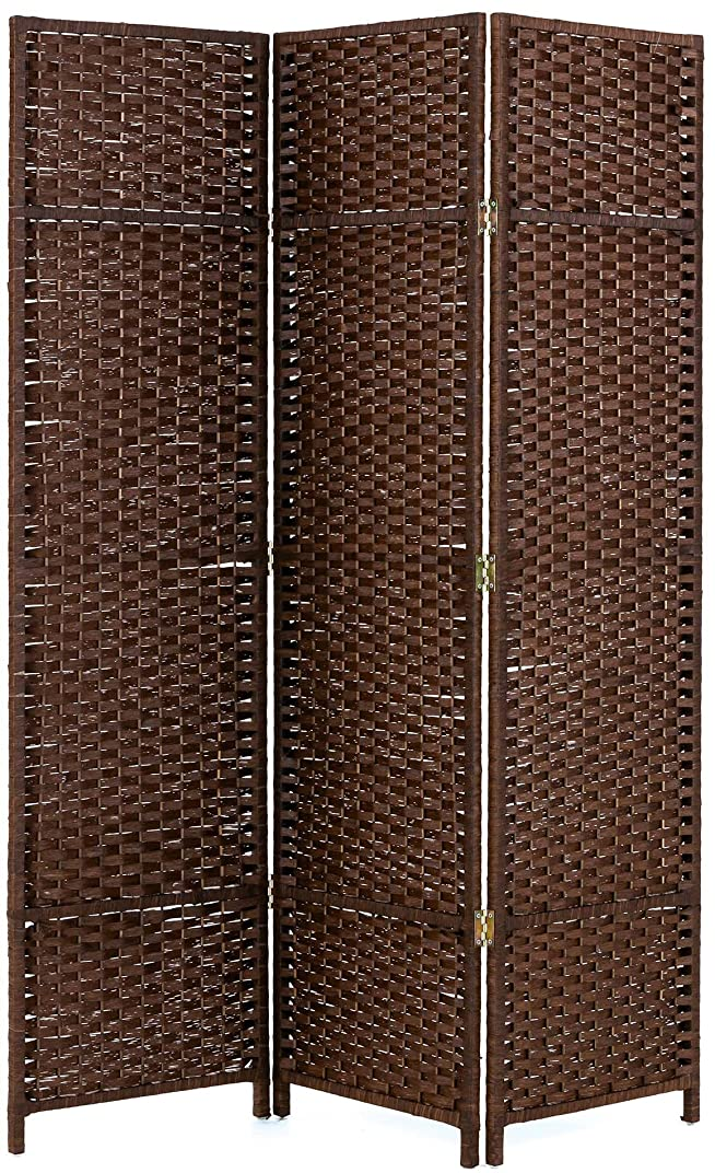 労働窒素に変わる武田コーポレーション 【スクリーン?衝立?間仕切り?パーテーション】 三連 スクリーン (150×122cm) ブラウン XYZ11416BR