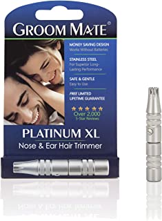 ConairMAN Lithium-Powered Cordless Ear/Nose Trimmer Panasonic Nose Hair Trimmer and Ear Hair Trimmer ER430K, Vacuum Cleaning System , Men's, Wet/Dry, Battery-Operated Wahl Ear, Nose, & Brow Trimmer Clipper – Painless Eyebrow & Facial Hair Trimmer for Men & Women, Battery Included Electric Groomer – Model 5545-400 Groom Mate Platinum XL Nose & Ear Hair Trimmer