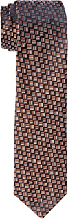 Van Heusen Men's Silk Dobby Tie, Orange