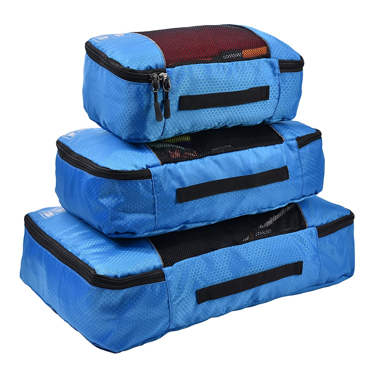 後悔令状バスケットボールHopsooken 3点セット アレンジケース トラベルポーチ スーツケース オーガナイザー トラベル 整理整頓 出張 旅行 パッキングキューブ [並行輸入品]
