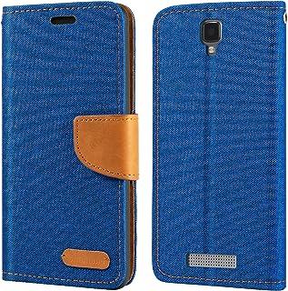 ZTE Blade L5 fodral, Oxford läder plånboksfodral med mjuk TPU bakskydd magnet flip fodral för ZTE Blade L5 Plus