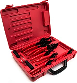 Bastex 11 piece Internal External Plier Set for Retaining Snap Ring and Circlip Removal Tools for Automobiles Lawnmowers and Farm Equipment Maintenance. Easy Push nut E Spiral an Split ring Removal.