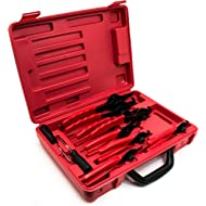 Bastex 11 piece Internal External Plier Set for Retaining Snap Ring and Circlip Removal Tools for...