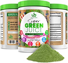 Green Juice Superfood Powder (30 Day Supply) Plant Based Berry Flavored Antioxidant Supplement, Vegan, Gluten Free, Supports Weight Loss, Boosts Energy and Immunity, Green Superfood by Ultimate Blend