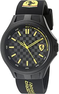 Ferrari 830286 Pit Crew Analog Display Quartz Black Watch