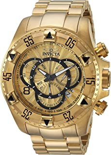 Men's Excursion Quartz Watch with Stainless-Steel Strap, Gold, 17 (Model: 24263)