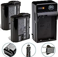 BM Premium 2 Pack of EN-EL15B Batteries and Battery Charger for Nikon Z6, Z7, D850, D7500, 1 V1, D500, D600, D610, D750, D800, D800E, D810, D810A, D7000, D7100, D7200 Digital Cameras